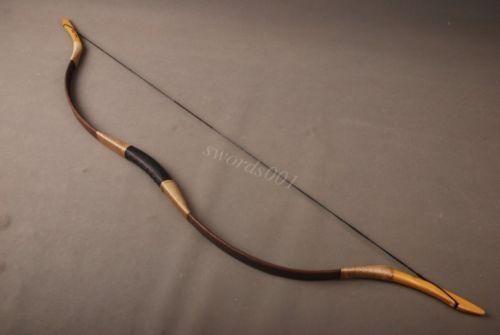 Chinese Traditional Recurve Bow Archery 40lb 3339;39;Draw Length Brown Pig Leather