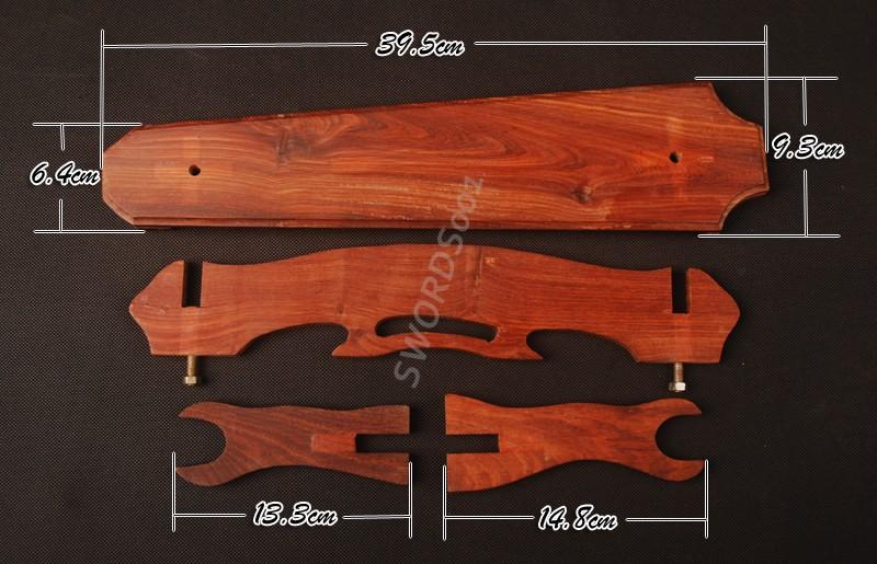 Red Sandal Wood Sword Stand Display Rack For Japanese Samurai Sword Sdj09a