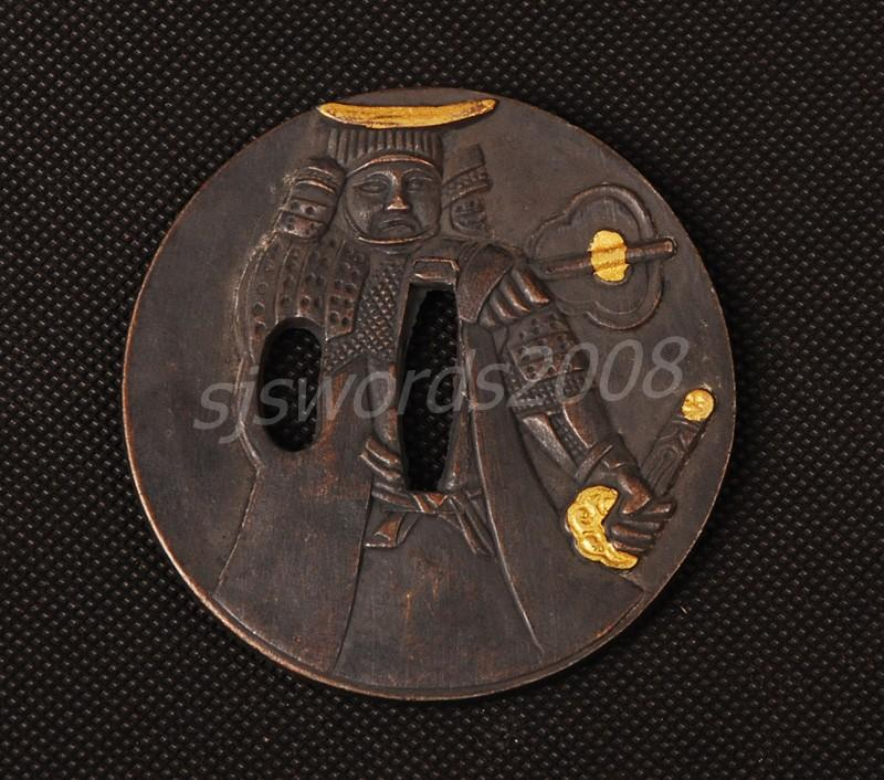 Japanese Sword Fitting Part Alloy Tsuba For Katana Wakizashi Sj023