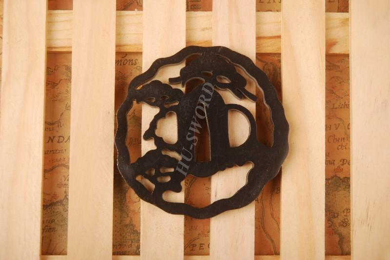 Iron Tsuba Hand Guard For Japanese Samurai Sword Knives Katana Wakizashi Ht105
