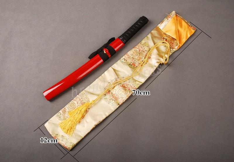 Japanese Samurai Sword Tanto Good Quality Nice Royal Yellow Dragon Sword Bag