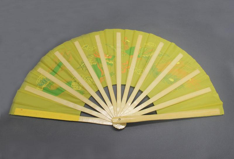 4pcs Dragon Phoenix Bamboo Fan Four Colors 13.8