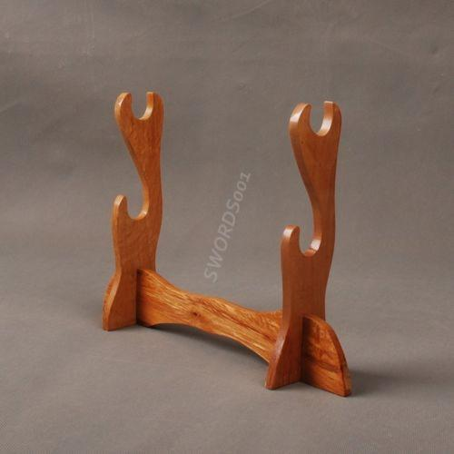 Wood Two Layers Sword Stand For Japanese Samurai Sword Katana Wakizashi Sdj05