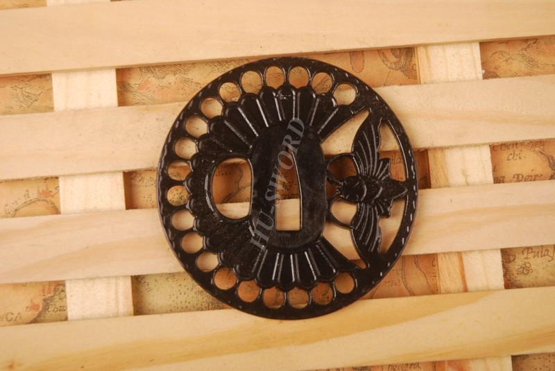 Iron Tsuba Hand Guard For Japanese Samurai Sword Knives Katana Wakizashi Ht106