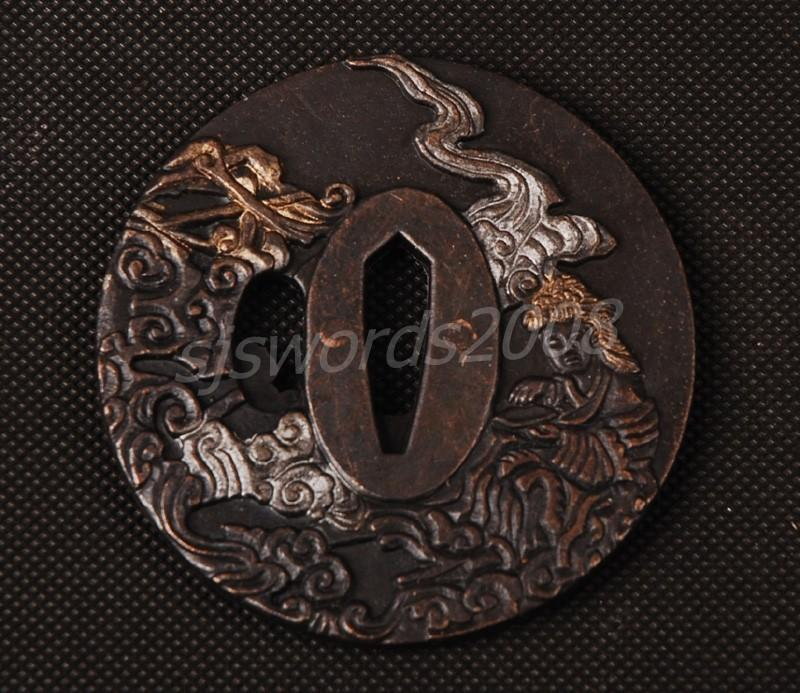 Japanese Sword Katana Wakizashi Part Alloy Tsuba For Protecting Your Hand Sj010