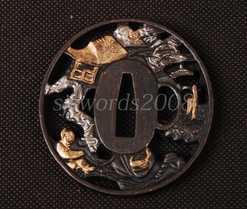 Tsuba For Japanese Warrior Sword Katana Wakizashi Appy Guard Hj185