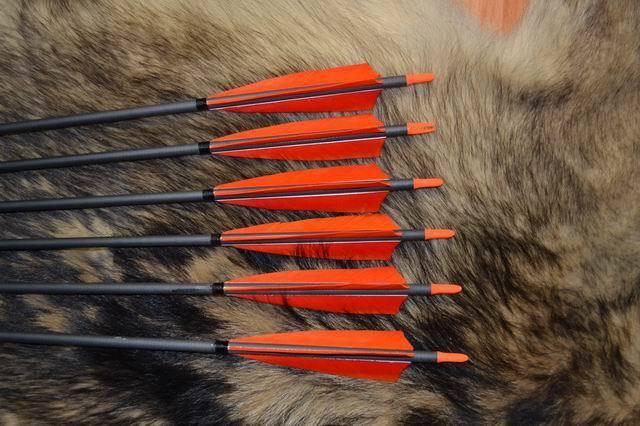 Black Carbon Arrow Turkey Fletching Colors For Choose Archery For Bow
