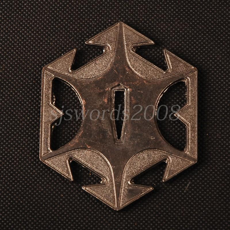 Hexagon Alooy Tsuba Guard Plate For Japanese Sword Katana Wakizashi Hj100