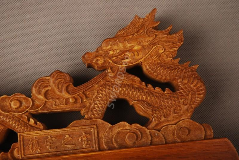 Details About Wood Dragon Sword Stand Display Holder Rack For Japanese Samurai Sword 14a