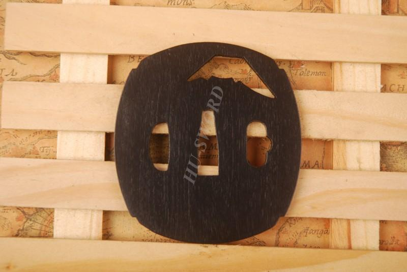 Iron Tsuba Hand Guard For Japanese Samurai Sword Knives Katana Wakizashi Ht093