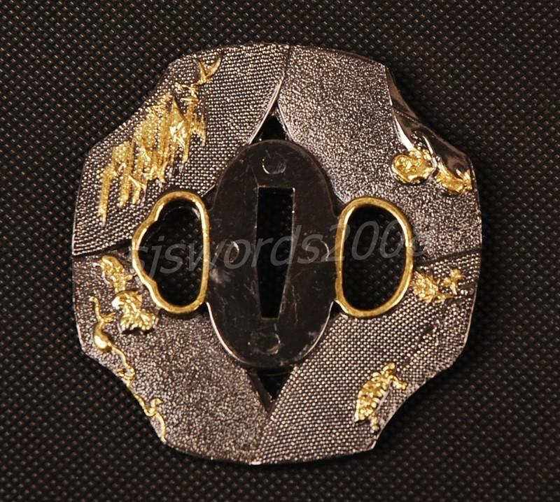 Tsuba For Japanese Samurai Sword Wakizashi Katana Alloy Sj013