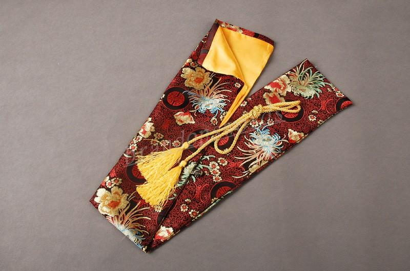 Japanese Samurai Sword Wakizashi Good Quality Nice Chrysanthemum Red Sword Bag