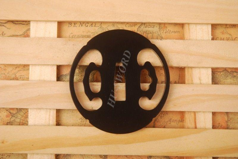 Iron Tsuba Hand Guard For Japanese Samurai Sword Knives Katana Wakizashi Ht010
