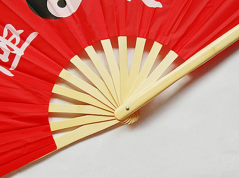 5pcs Chinese Bamboo Frame Tai Chi Martial Arts Eight Trigrams Kung Fu Fan Primary Color