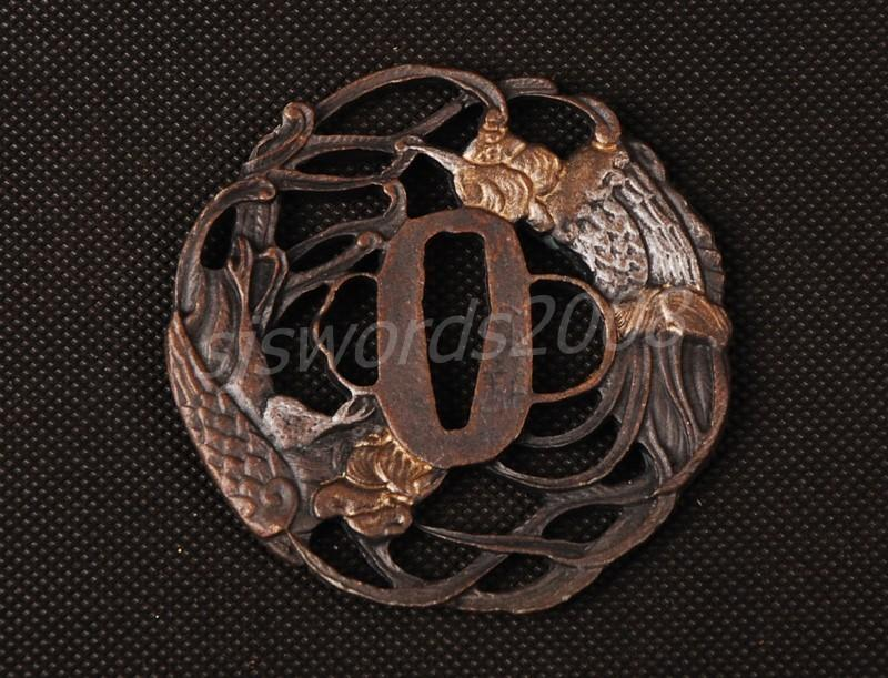 Nice Design Alloy Tsuba Guard For Japanese Sword Katana Wakizashi Sj047