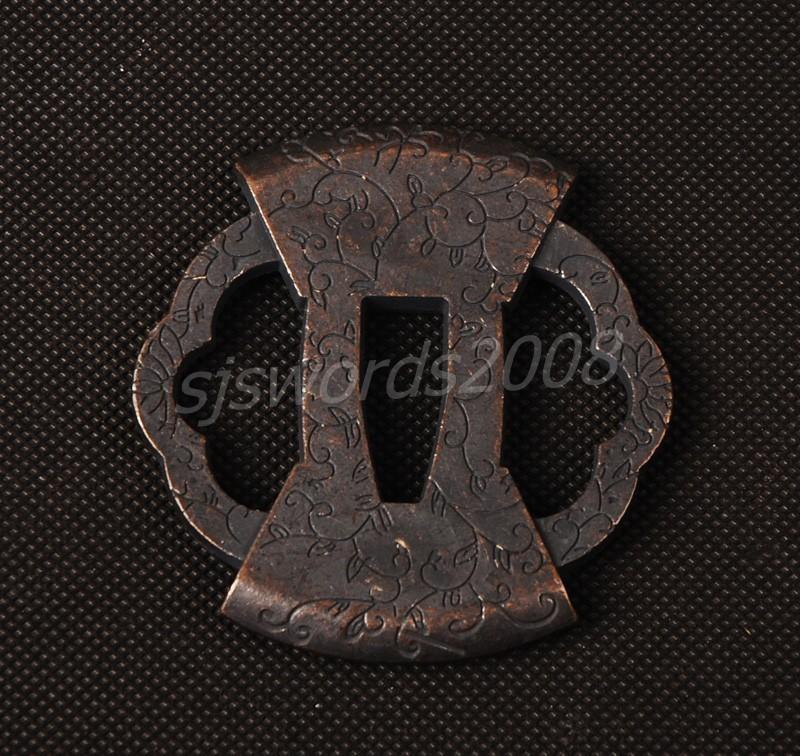 Tsuba Guard Part Of The Japanese Samurai Sword Katana Nice Patterns On Sj026