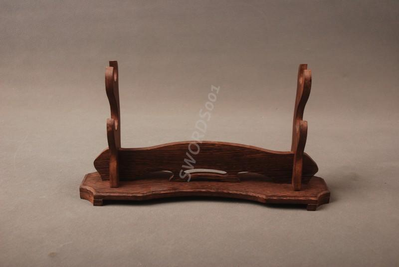 Rosewood Sword Two Layer Stand Display Holder Rack For Anese Samurai