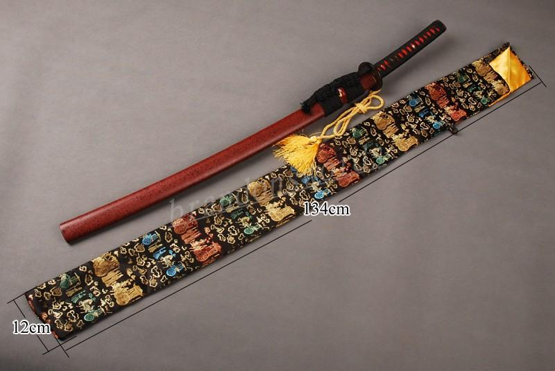 Japanese Samurai Sword Katana Good Quality Nice Soft Black Archaistic Sword Bag