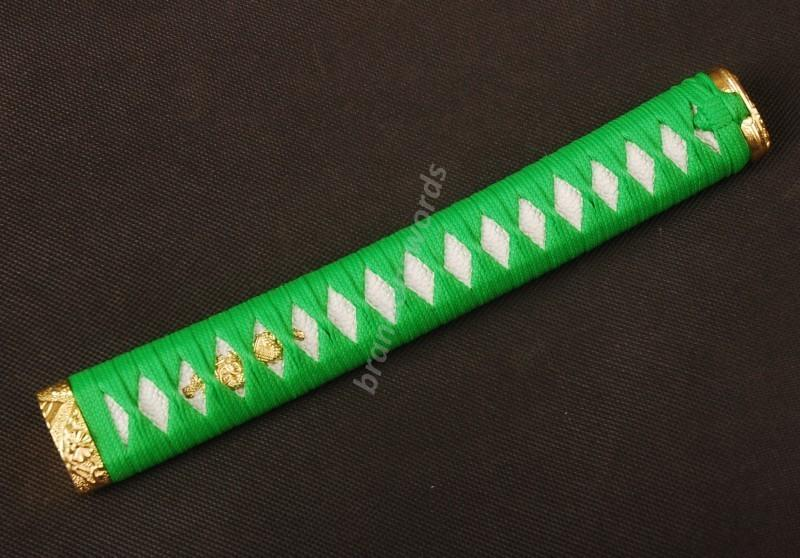 Samurai Sword Japanese Sword Katana Handle Light Green White Rayskin Tsuka H23