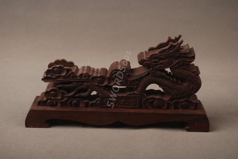 Rosewood Dragon Sword Stand Display Holder Rack For Japanese Samurai Sword 14b