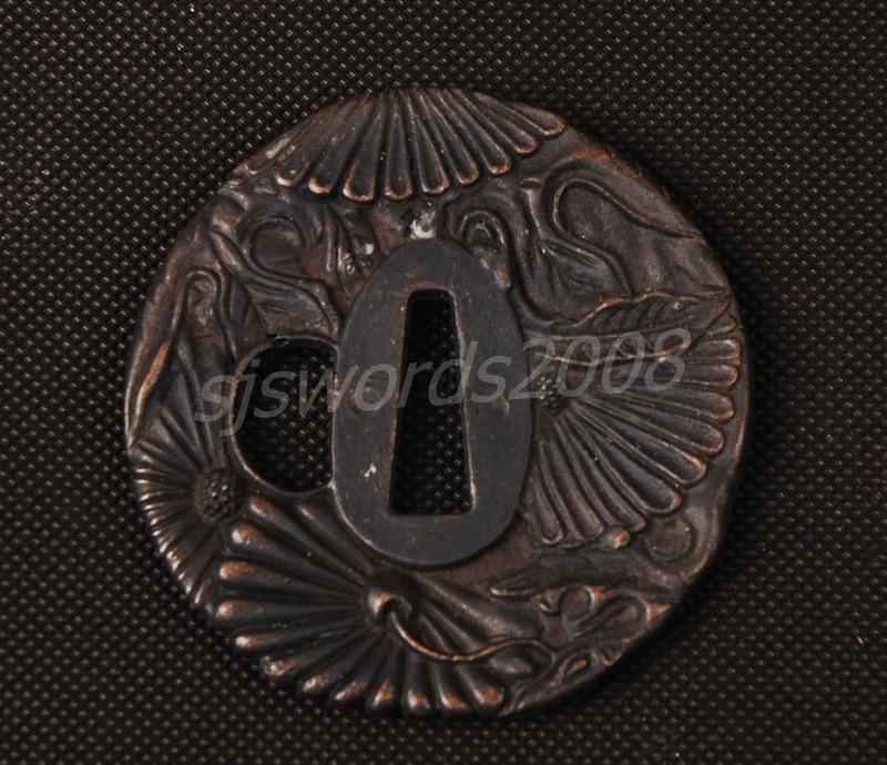 Japanese Samurai Sword Part Alloy Tsuba Guard Sj015