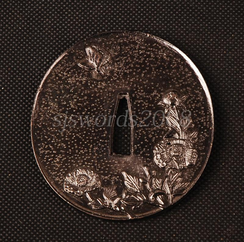 Nice Tsuba Alloy Guard For Japanese Sword Katana Wakizashi Tanto Hj64