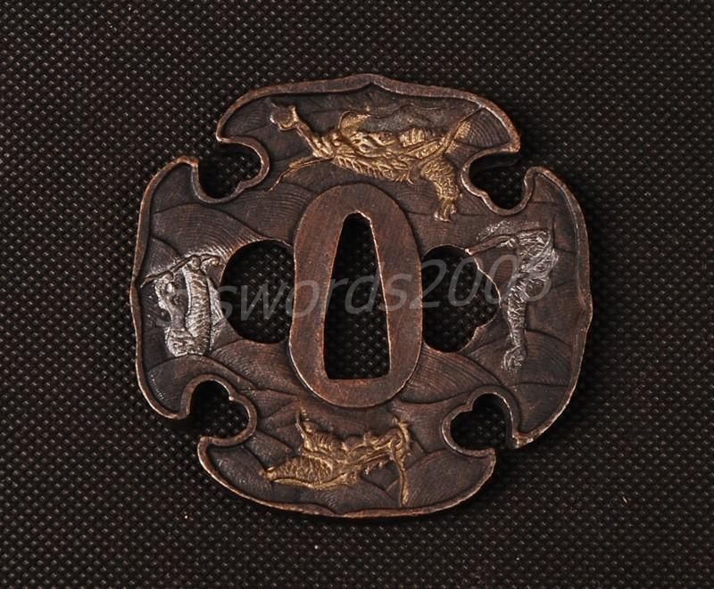 Alloy Part For Japanese Sword Samurai Katana Wakizashi Tsuba Guard Sj048