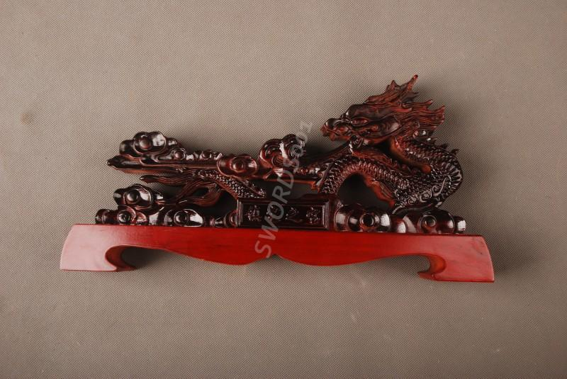 Painted Dragon Sword Stand Display Holder Rack For Japanese Samurai Sword 14d