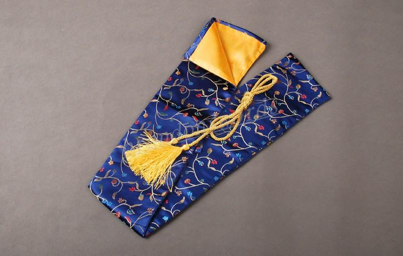 Japanese Samurai Sword Wakizashi Good Quality Blooming Flowers Blue Sword Bag